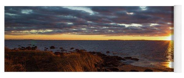 Randall Point Sunset At Barn Island - Stonington Ct Yoga Mat