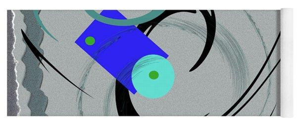 Randomness Variations 5, On Paper Montage Yoga Mat