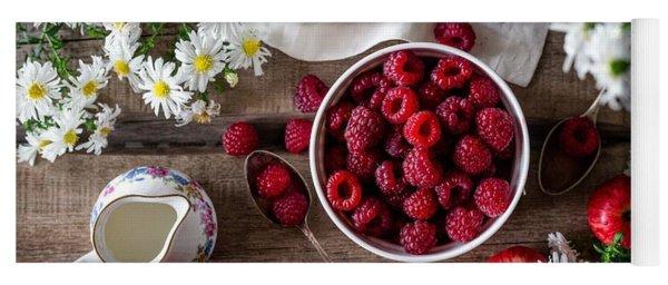 Raspberry Breakfast Yoga Mat