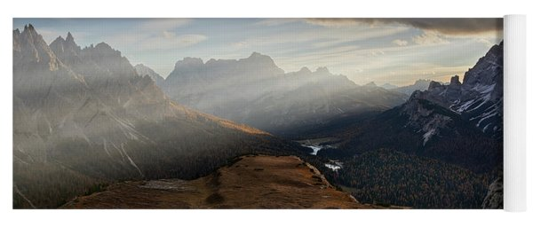 Rays Over The Dolomites Yoga Mat