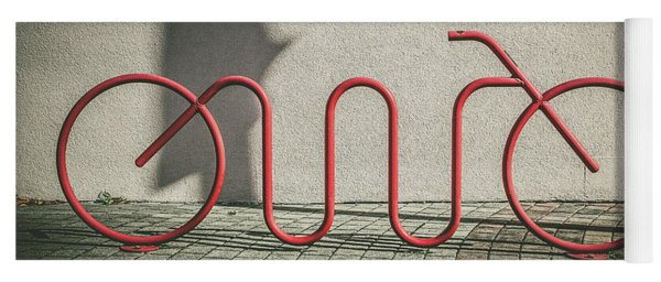 Red Bike Rack Yoga Mat