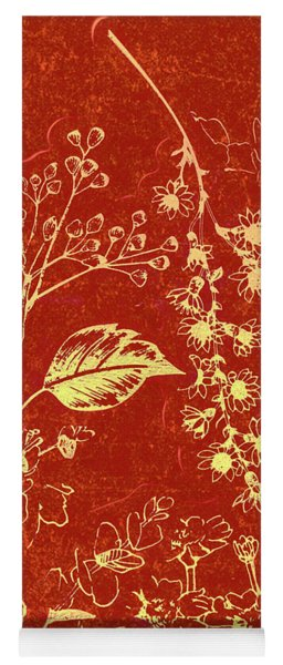 Red Blossoms Yoga Mat