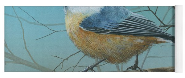 Red Brested Nuthatch Yoga Mat