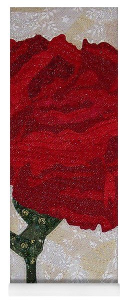 Red Carnation Yoga Mat