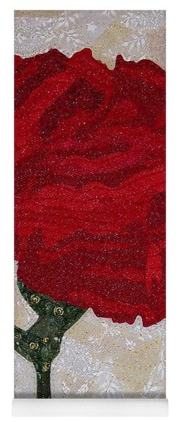 Red Carnation Yoga Mat