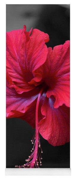 Red Hibiscus Portrait Yoga Mat