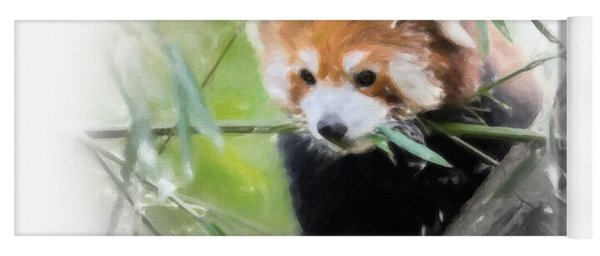 Yoga Mat featuring the painting Red Panda by Chris Armytage