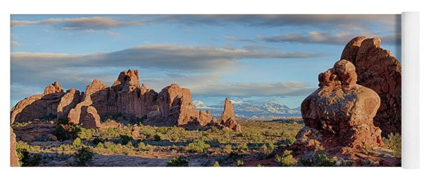 Red Rock Formations Arches National Park  Yoga Mat