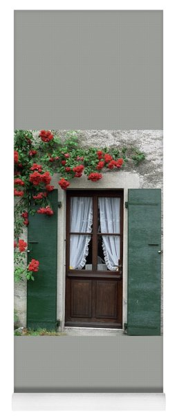 Red Rose Door Yoga Mat