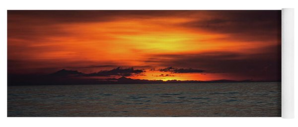 Yoga Mat featuring the photograph Red Sunrise by Lora J Wilson