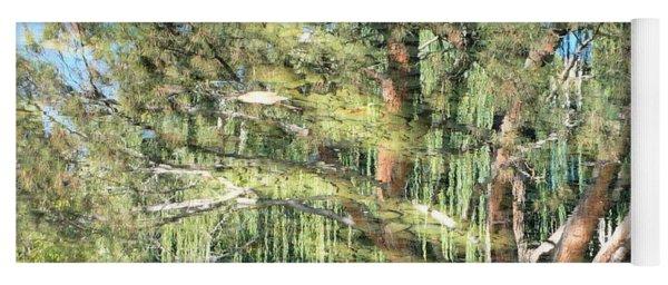 Reflecting Trees Yoga Mat