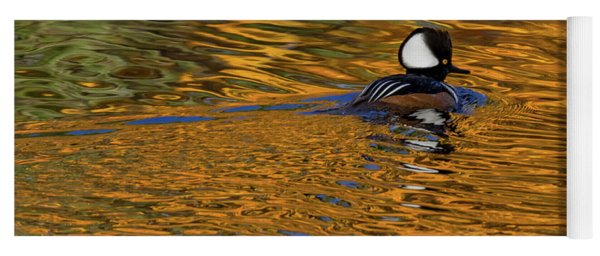 Reflecting With Hooded Merganser Yoga Mat