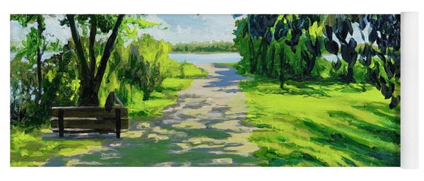 Reflection By The Lake Yoga Mat