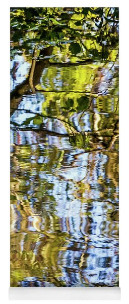 Reflections In Blue Yoga Mat