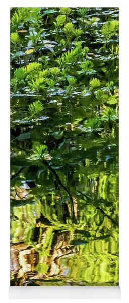 Reflections In Green Yoga Mat