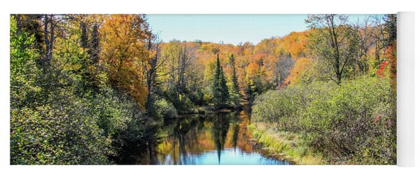 Reflections Of Fall In Wisconsin Yoga Mat