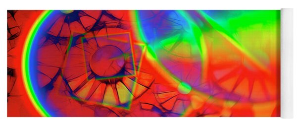 Refracting The Wheel Yoga Mat