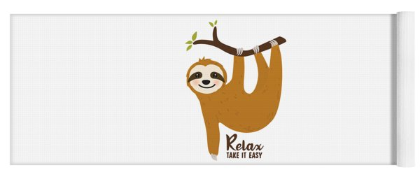 Relax Take It Easy - Baby Room Nursery Art Poster Print Yoga Mat