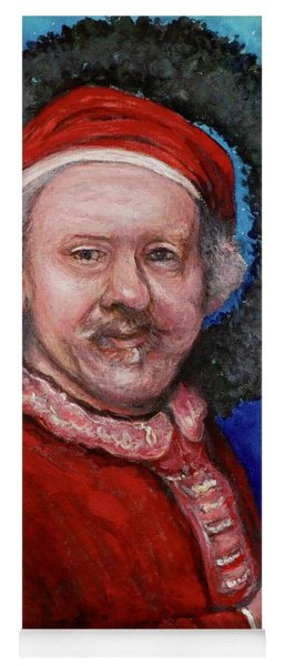 Yoga Mat featuring the painting Rembrandt Santa by Tom Roderick