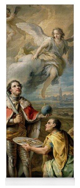 'rendicion De Sevilla Al Rey San Fernando', Second Half 18th Century, Fr... Yoga Mat