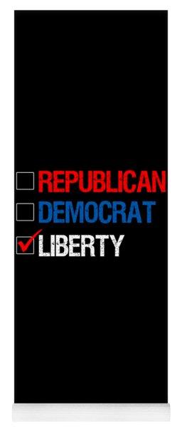 Republican Democrat Liberty Libertarian Yoga Mat