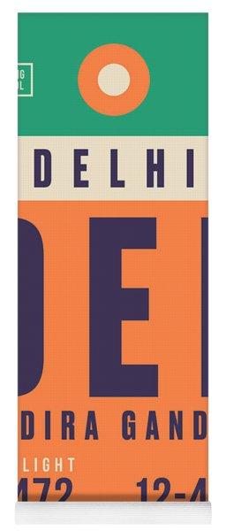 Retro Airline Luggage Tag - Del Delhi Airport Yoga Mat