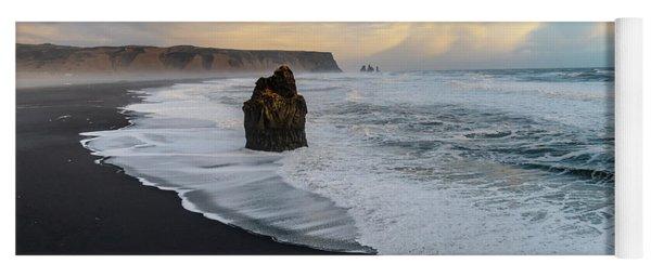 Reynisfjara Beach At Sunset Yoga Mat