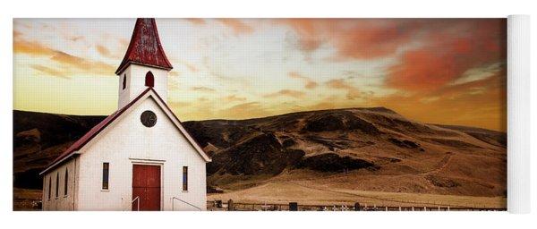 Reyniskirkja Lutheran Church In Iceland Yoga Mat
