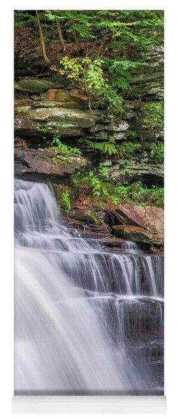 Yoga Mat featuring the photograph Rickett's Glen Waterfall by Sharon Seaward