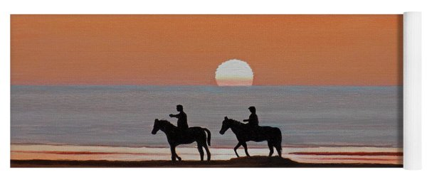 Riding Sunset Beach Yoga Mat