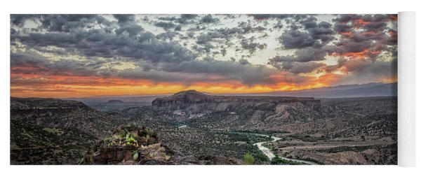 Rio Grande River Sunrise 2 - White Rock New Mexico Yoga Mat