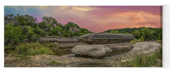 River Erosion At Sunset Yoga Mat