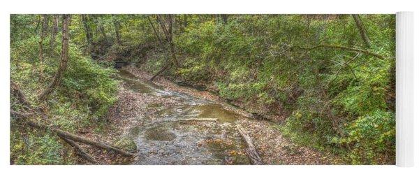River Flowing Through Pine Quarry Park Yoga Mat