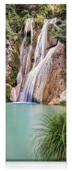 River Neda Waterfalls Yoga Mat