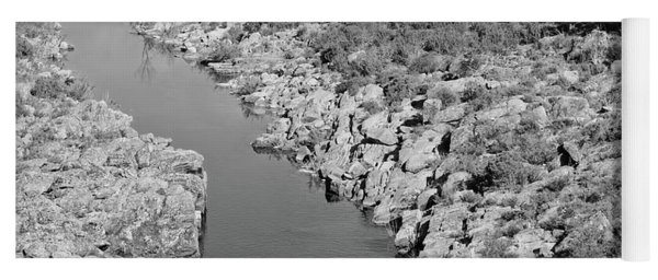 River On The Rocks. Bw Version Yoga Mat