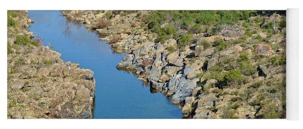 River On The Rocks. Color Version Yoga Mat