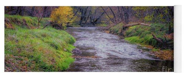 River Running Through Yoga Mat