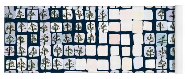 Road In The Pine Forest Yoga Mat