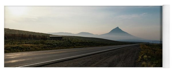 Yoga Mat featuring the photograph Road Through The Rockies by Nicole Lloyd