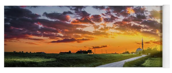 Road To Sunset Yoga Mat