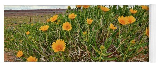 Roadside Wildflowers Along Highway 24 In Utah Yoga Mat