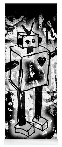 Robot Graffiti Graphic Yoga Mat