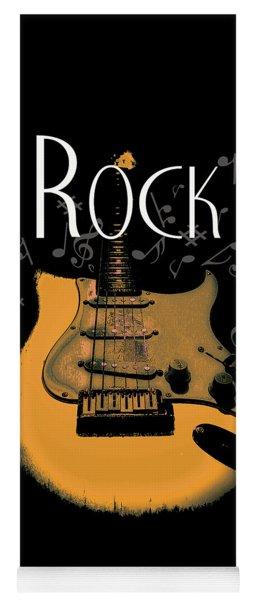 Rock Guitar Music Notes Yoga Mat