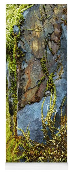 Rock, Moss, And Ferns Yoga Mat