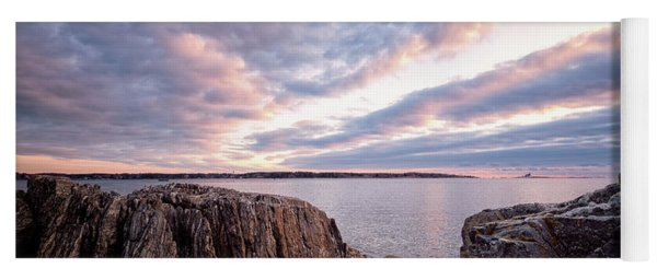 Rocky Coast At Daybreak . Yoga Mat
