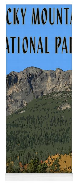 Rocky Mountain National Park Poster Yoga Mat