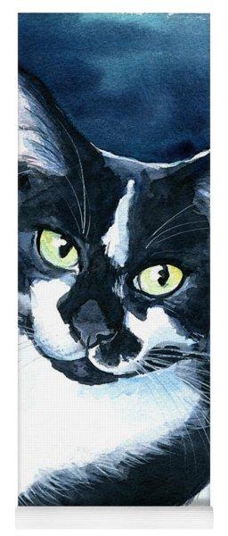 Rollie Tuxedo Cat Painting Yoga Mat