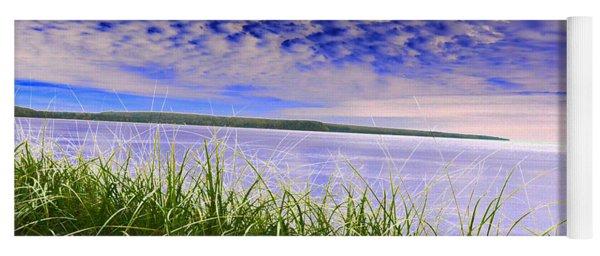 Rolling Blue Sky Over Lake Superior Yoga Mat