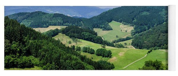 Rolling Hills Of The Black Forest Yoga Mat