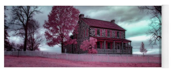 Rose Farm In Infrared Yoga Mat
